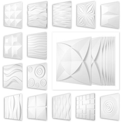 3D Paneele 50x50cm, PVC Kunststoffplatten - wetterfest und stabil, HD Serie 1