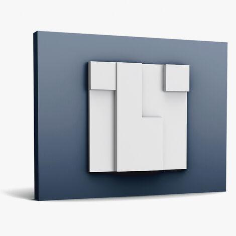 3d panneau mural Orac Decor W102 MODERN CUBI Élement décoratif design moderne blanc