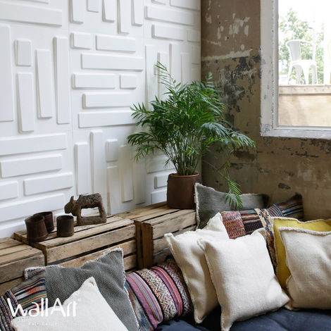3D Pannello a parete Bricks 3D Pannello decorativo WallArt 6m²