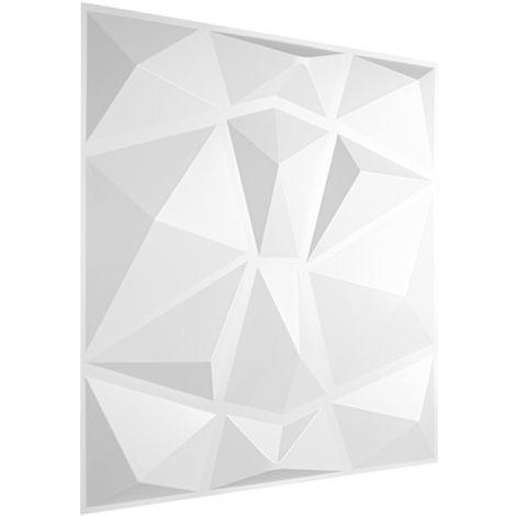 3D Platten Kunststoff | Paneele PVC | Wasser Schlag und Stoßfest | 50x50cm | HD094
