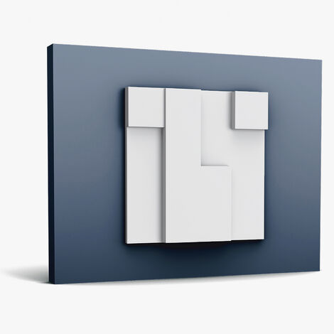3d revestimiento mural Orac Decor W102 MODERN CUBI Moldura elemento decorativo moderno blanco