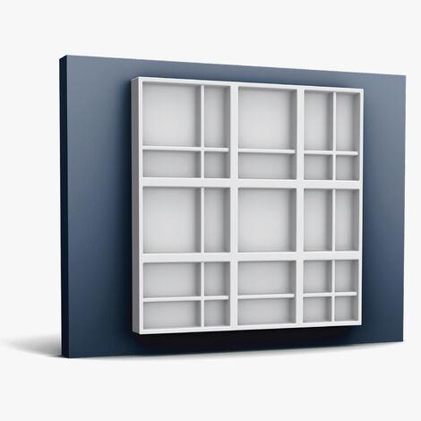 3d revestimiento mural Orac Decor W104 MODERN KILT Moldura elemento decorativo moderno blanco