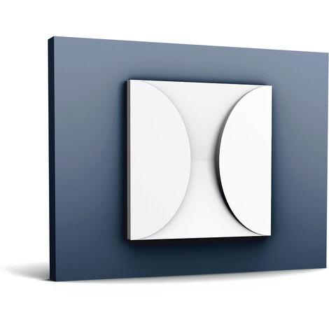 "main image of ""3d revestimiento mural Orac Decor W107 MODERN CIRCLE Panel de pared Elemento decorativo diseño moderno blanco"""