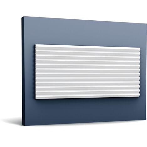 3d revestimiento mural Orac Decor W108 MODERN ZIGZAG Panel de pared Elemento decorativo diseño moderno blanco 2 m