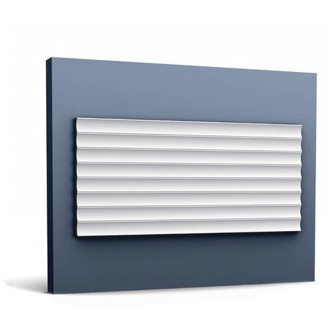 3d revestimiento mural Orac Decor W109 MODERN VALLEY Panel de pared Elemento decorativo diseño moderno blanco 2 m