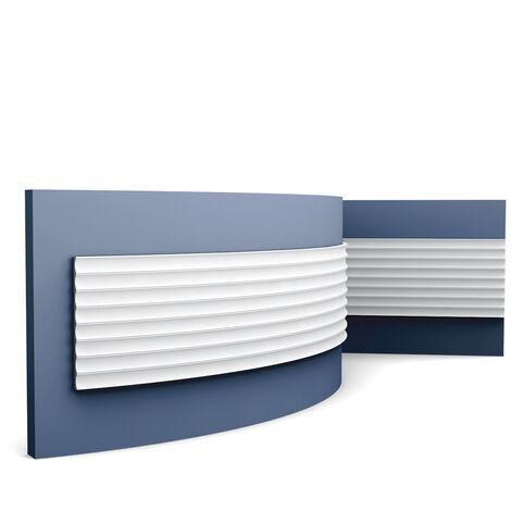 3d revestimiento mural Orac Decor W109F MODERN VALLEY Panel de pared Elemento decorativo diseño moderno blanco 2 m