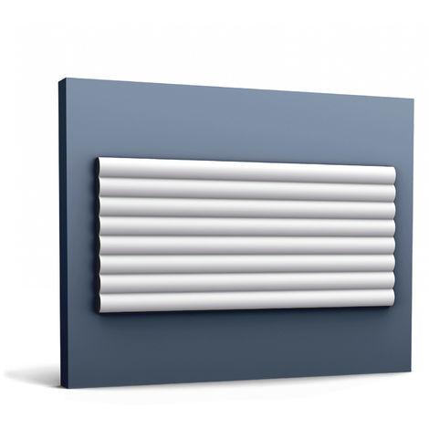 3d revestimiento mural Orac Decor W110 MODERN HILL Panel de pared Elemento decorativo diseño moderno blanco 2 m