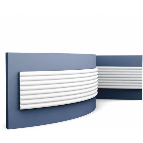 3d revestimiento mural Orac Decor W110F MODERN HILL Panel de pared Elemento decorativo diseño moderno blanco 2 m