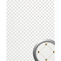 3D Revestimiento mural Panel decorativo Mosaico autoadhesivo WallFace 17856 blanco de perla dorado 2,60 m2