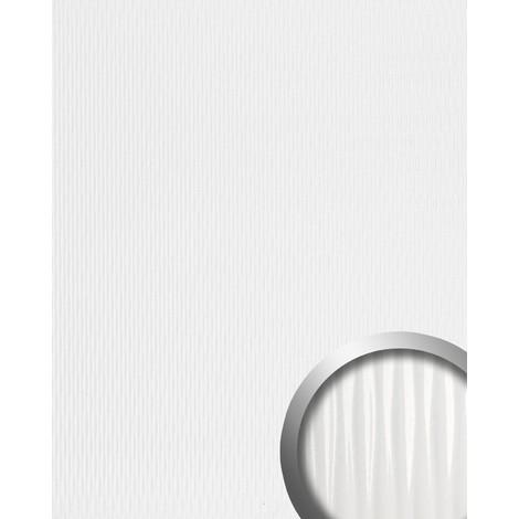 3D Revêtement mural auto-adhésif WallFace 15953 MOTION ONE Design Finition rainurée ondulée blanc brillant 2,60 m2