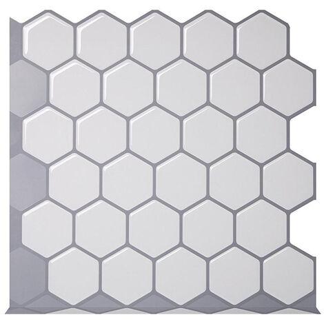 "main image of ""3D Self-Adhesive Waterproof Wallpaper Mosaic Tile Wall Sticker"""