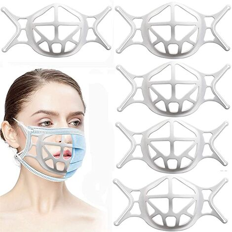 """main image of """"3D silicone face holder, face protection bracket for a more comfortable breathable space, lipstick protection holder, keep the fabric out of mouth 10 pieces"""""""