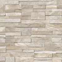 3D Slate Stone Brick Effect Wallpaper Washable Vinyl Sand & Stone