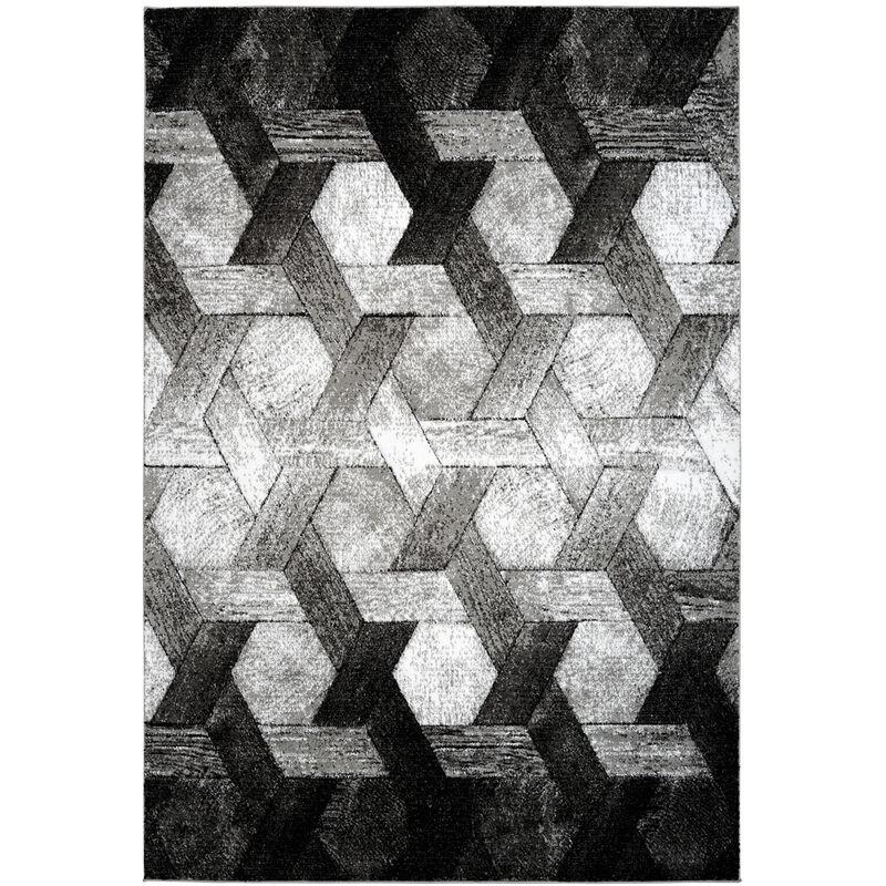 3d Teppich Modern Design Teppiche Wohnzimmer Schwarz Weiss Grau 80x150cm 1r6jh 80 150