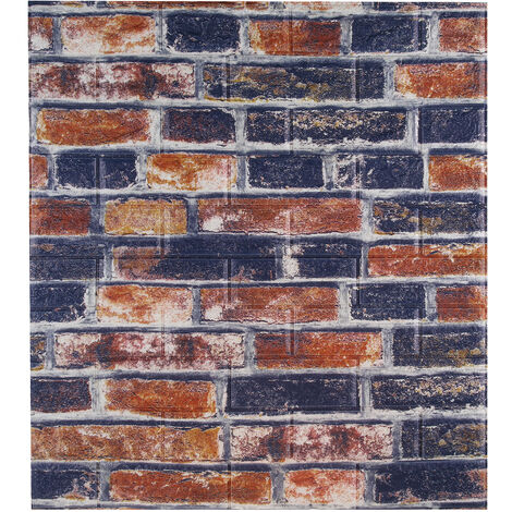 3D Tile Brick Wall Sticker Foam Panel Wallpaper Sticker 70x77CM
