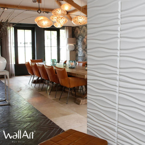 3D Wall Panel Flows 3d WallArt Decorative Wall Panel 3m²