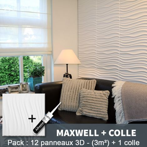 3D Wall Panel Maxwell 3D Wall Panels 3m² + Glue WallArt