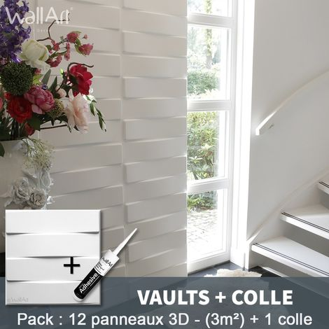 3D Wall Panel Vaults 3D Wall Panels 3m² + Glue WallArt