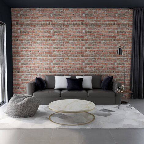 3D Wall Panels with Red Brick Design 11 pcs EPS