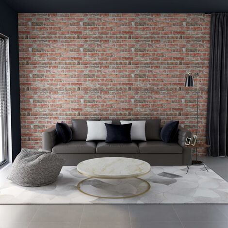 3D Wall Panels with Red Brick Design 11 pcs EPS - Red