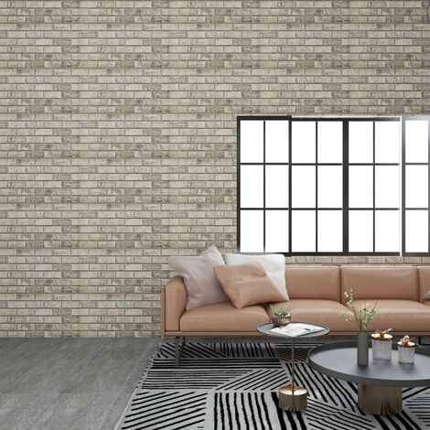 3D Wall Panels with Sand Brick Design 11 pcs EPS - Beige