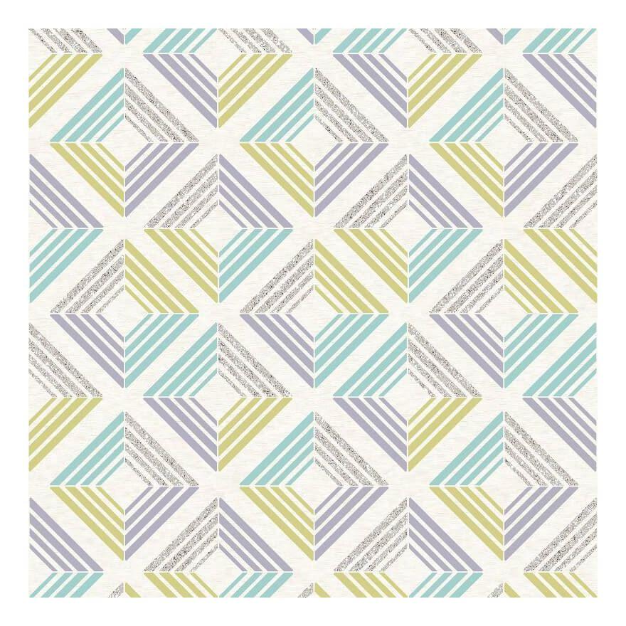 Image of 3D Wallpaper Geometric Diamond Glitter Echo Retro Squares Modern Bold Coloroll