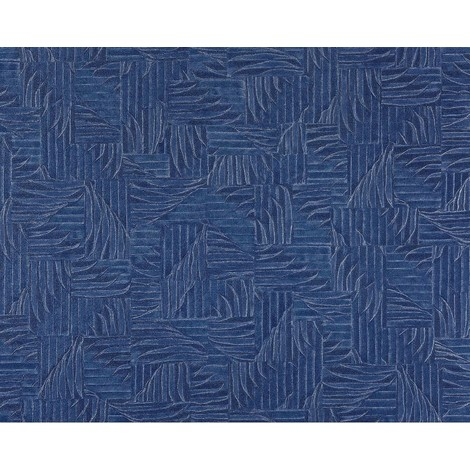 3D wallpaper wall non-woven EDEM 913n-27 embossed basketwork woven fabric pattern royal blue 10.65 sqm (114 sq ft) XXL roll