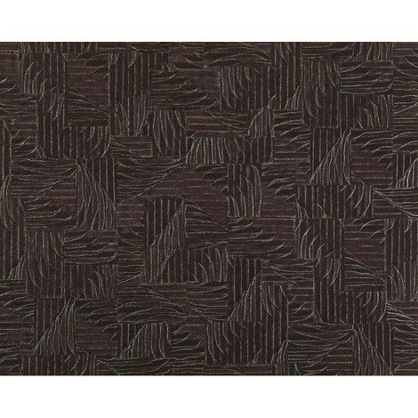 3D wallpaper wall non-woven EDEM 913n-29 embossed basketwork woven fabric pattern aubergine 10.65 sqm (114 sq ft) XXL roll