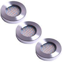 3er Set Einbaustrahler mit LED Leuchtmittel