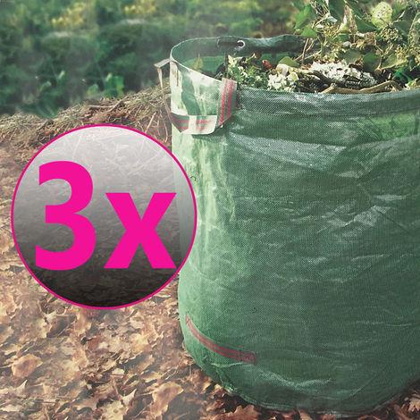3er Set Gartenabfallsack 272 Liter
