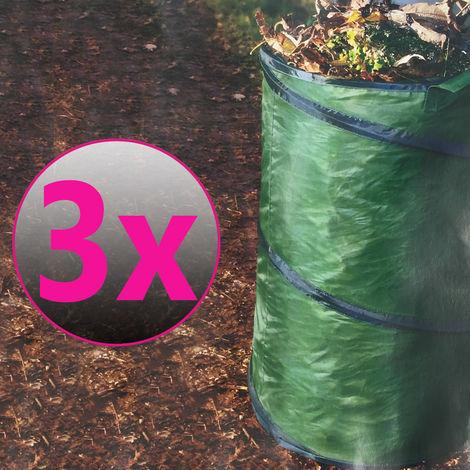3er Set Pop-Up Garten Abfallsack ca. 100 Liter
