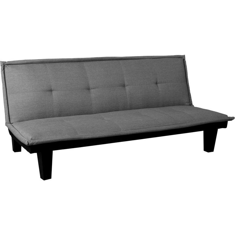 3er-Sofa 933, Couch Schlafsofa Gästebett Bettsofa Klappsofa, Schlaffunktion 170x100cm ~ Textil, dunkelgrau - HHG