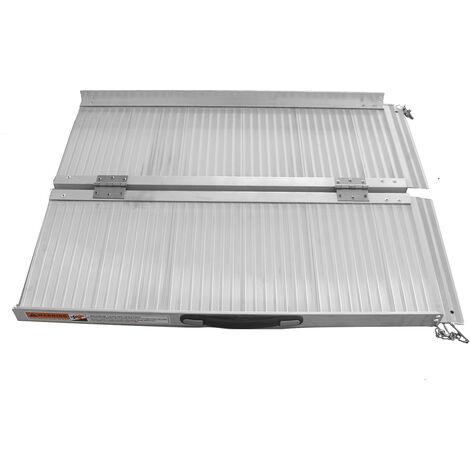 3FT 600lbs Portable Wheelchair Ramp Aluminium Folding Steps Stairs 90.68x72.9x5.08cm