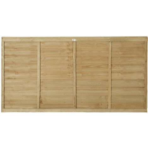 3ft High Forest Pressure Treated Lap Fence Panel