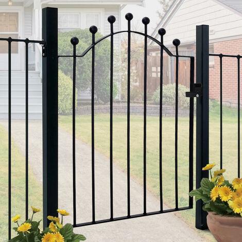 3ft Metal Garden Gate Wrought Iron Gate Black