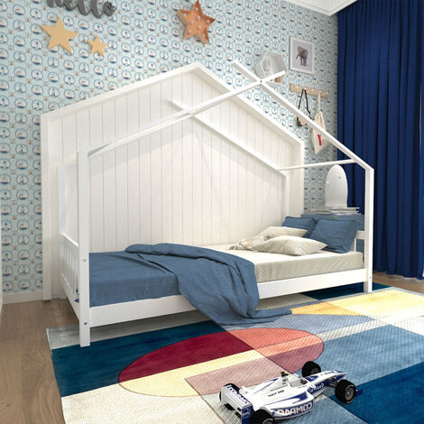3ft Single Bed Children Kids Bed Frame Solid Pine Wood House Bedstead Boys Girls