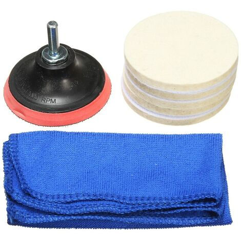 3inch Windshield Glass Polishing Pad M10 + Drill Adapter Scrach Remover Mohoo