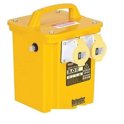 110V 2 x 16Amp Power Tool Sockets 3kVa 3.3kVa Site Transformer 240V 13Amp Plug