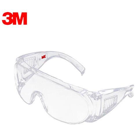 3M 1611HC Gafas protectoras, gafas profesional, proteccion UV, el polvo anti desgaste a prueba de viento contra la niebla recubrimiento de ojos