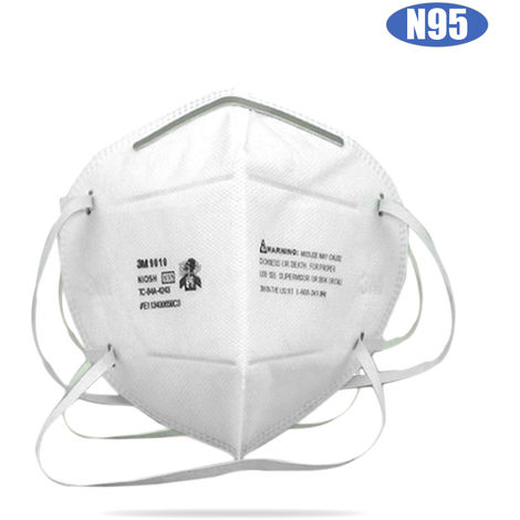 3M 1pcs 9010 Particulate Respirator NIOSH N95 Face Mask Head-mounted Mouthpiece