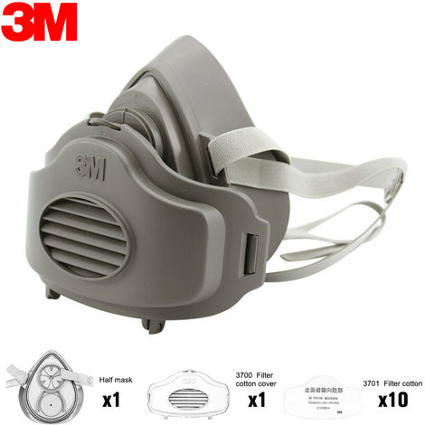 3M 3200 Dust Mask Respirator Half Face Dust-proof Mask Anti Industrial Construction Dust Haze Fog
