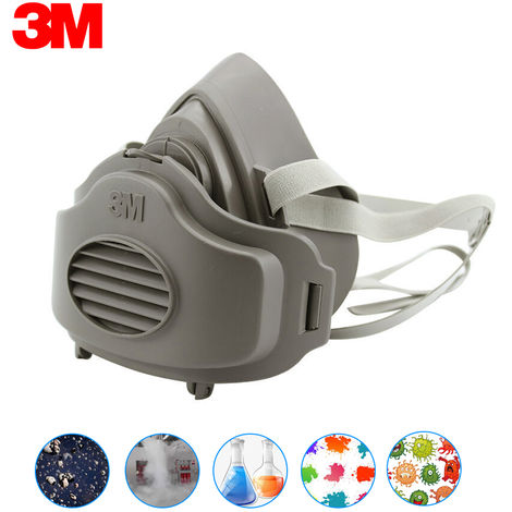 3M 3200 Dust Mask Respirator Half Face Dust-proof Mask with 10pcs Filter Cartridges Cotton