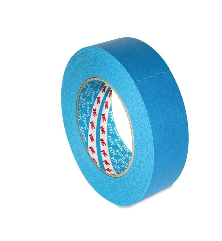 Image of 3434 Blue Masking Tape 38mm x 50m (1.5inch) Box of 24 - 3M