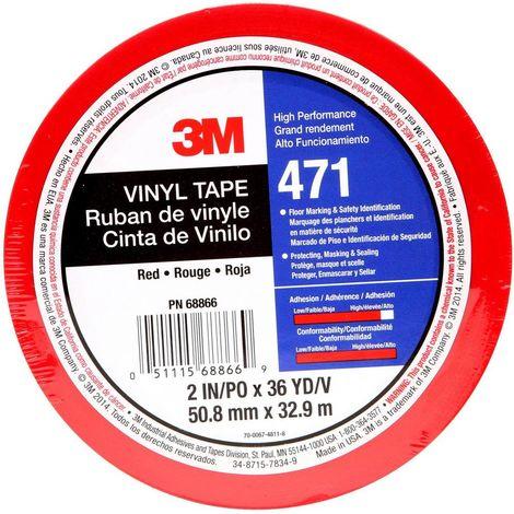 3M 471IW-R50-D Ruban adhésif PVC rouge (L x l) 33 m x 50 mm 1 pc(s)