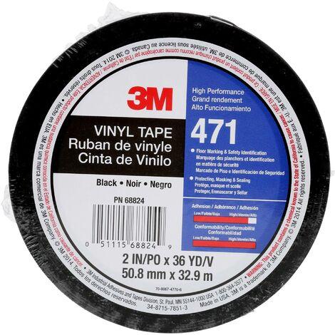 """main image of """"3M 471IW-S50-D Ruban adhésif PVC noir (L x l) 33 m x 50 mm 1 pc(s) Q139742"""""""