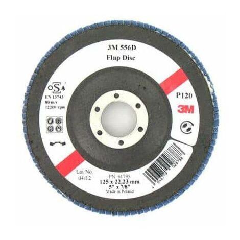 3M 556D disco abultada con listones de grano 120 x 125 mm 10