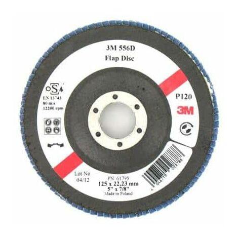 3M 556D disco abultada con listones de grano 120 x 125 mm 5