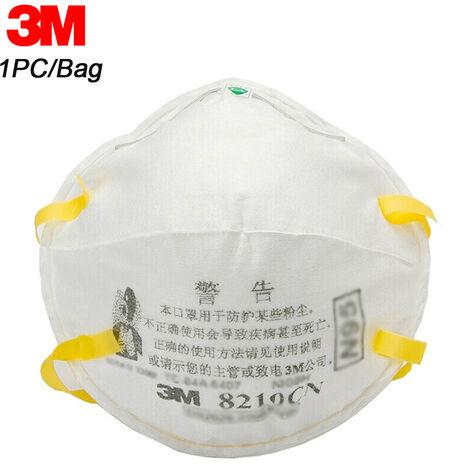 3M 8210 N95 Respirateur Masques De Protection Masque De Securite Pm2,5 Smog Haze Antipoussiere Masque Bouche, 1Pc