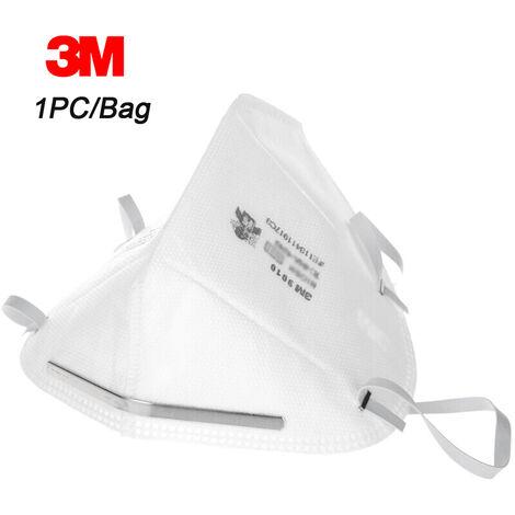 3M 9010 N95 Respirateur De Protection Masques Anti-Poussieres Masque De Securite Tete Montes Pm2,5 Smog Antipoussiere, 1Pc