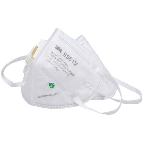 3M 9551V Kn95 Respirateur Masques De Protection Masque De Securite Avec Masque Bouche Valve Visage Pour Activites De Plein Air, 1Pc